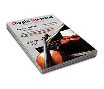 Libeli : Création flyers Chopin Normand